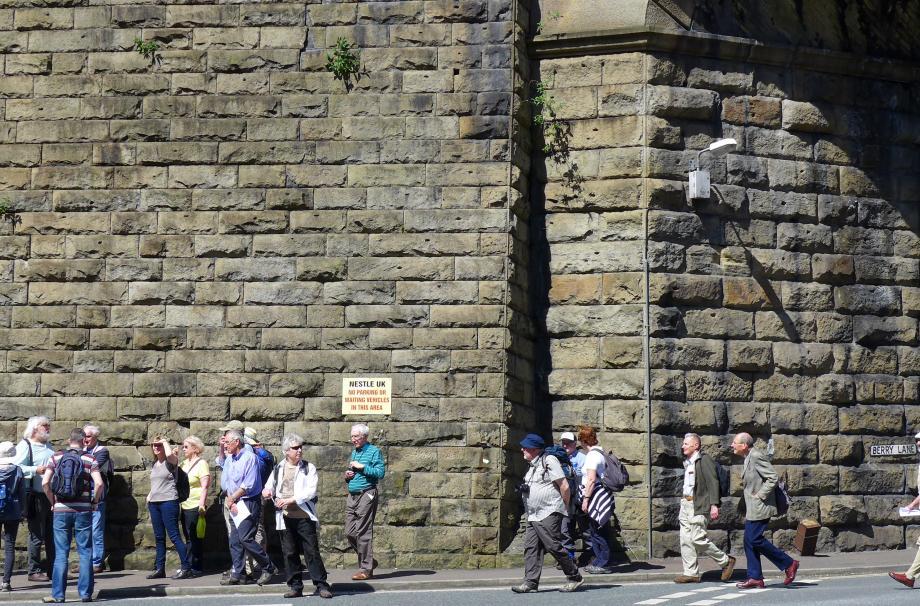 Members Walking Down Berry Lane